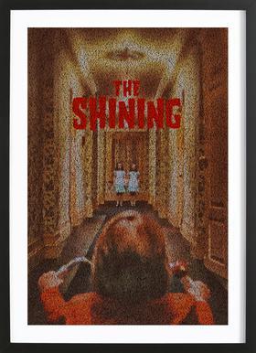 The Shining -Bild mit Holzrahmen