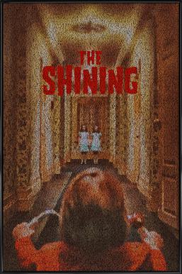 The Shining -Bild mit Kunststoffrahmen