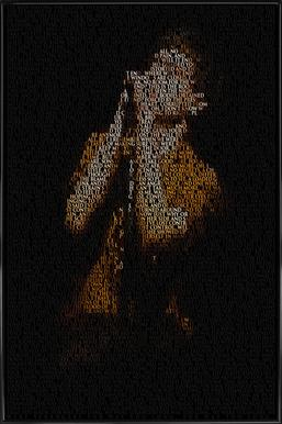 Unknown Pleasure -Bild mit Kunststoffrahmen