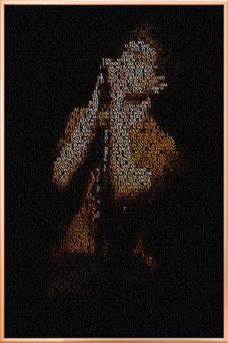 Unknown Pleasure -Poster im Alurahmen