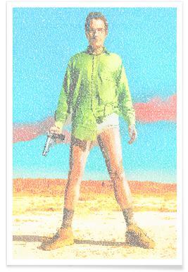 Walter White Pointillism Poster