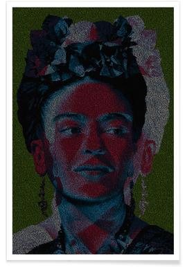 Frida - pointillisme poster