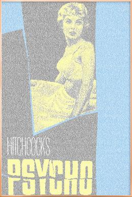 Psycho -Poster im Alurahmen