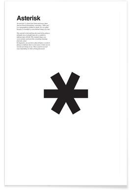 Asterisk Poster