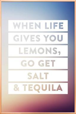 Lemons -Poster im Alurahmen