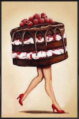 Cake Walk -Bild mit Kunststoffrahmen