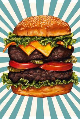 Double Cheeseburger acrylglas print