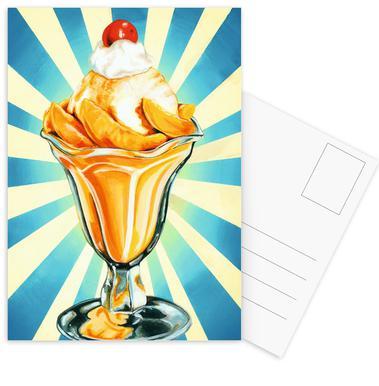 Peach Sundae Postcard Set