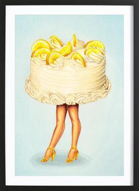 Cake Walk III -Bild mit Holzrahmen