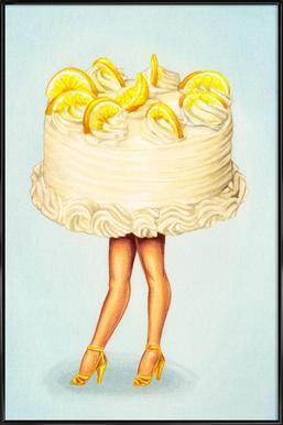 Cake Walk III -Bild mit Kunststoffrahmen