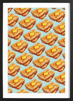 Buttered Toast Pattern Framed Print