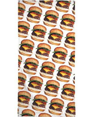 Cheeseburger Pattern -Handtuch