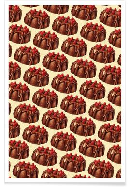 Chocolate Bundt Cake Pattern Poster