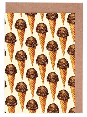 Chocolate Scoop Pattern Greeting Card Set