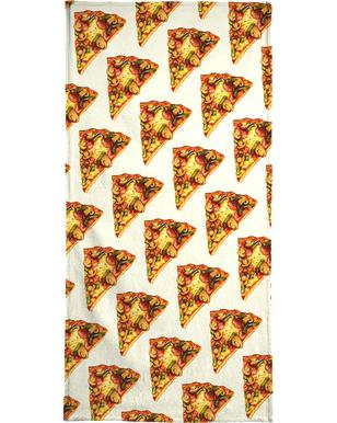 Pizza Pattern Beach Towel