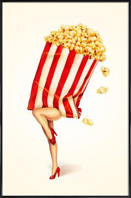 Popcorn Girl Framed Poster