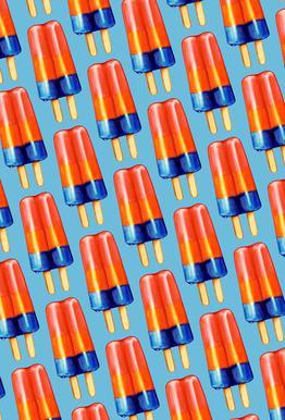 Rainbow Double Popsicle Aluminium Print