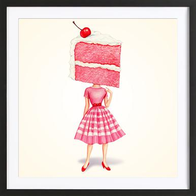 Cake Heads Cherry Framed Print