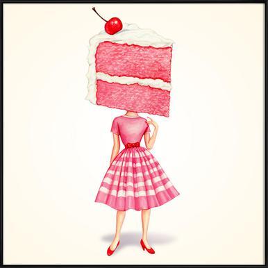 Cake Heads Cherry -Bild mit Kunststoffrahmen