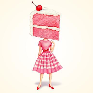 Cake Heads Cherry -Acrylglasbild