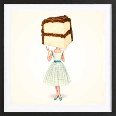 Cake Heads Chocolate Framed Print