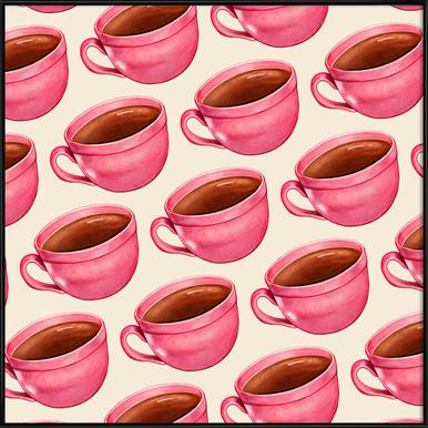 Coffee Patterns Coffee Framed Poster