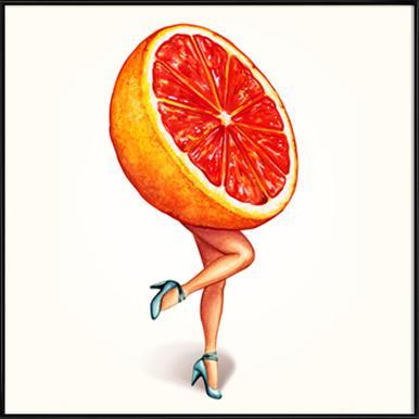Fruit Girls Grapefruit Framed Poster