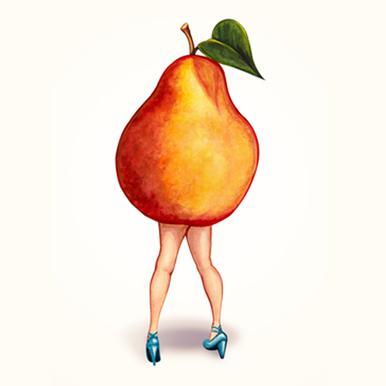 Fruit Girls Pear Canvas Print
