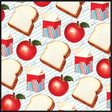 Lunch Patterns Lunch Ruled -Bild mit Kunststoffrahmen