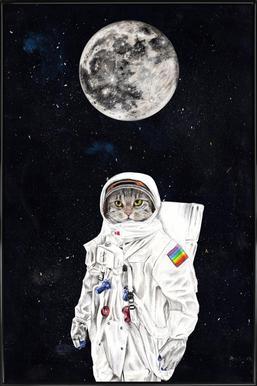 Spacecat -Bild mit Kunststoffrahmen