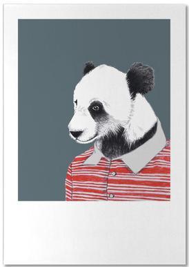 Panda im Polohemd -Notizblock