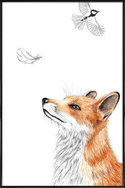 Fox -Bild mit Kunststoffrahmen