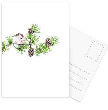 Christmas Mouse Postcard Set