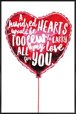 Heart Balloon Framed Poster
