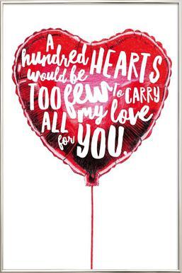 Heart Balloon Poster in Aluminium Frame
