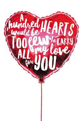 Heart Balloon Aluminium Print