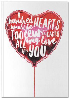 Heart Balloon Notebook