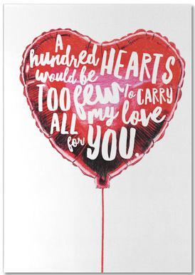 Heart Balloon Notepad