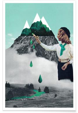 Painting On Mountain -Poster