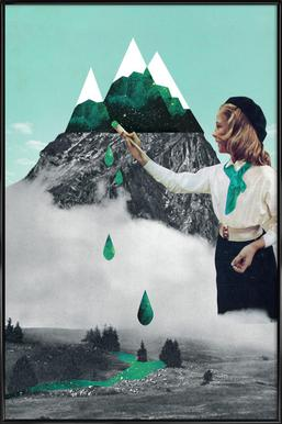 Painting On Mountain Framed Poster
