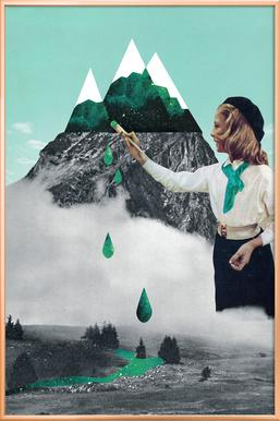 Painting On Mountain