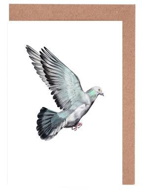 Taube -Grußkarten-Set