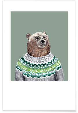 Bär im Pullover poster
