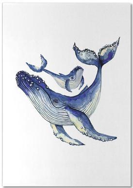 Buckelwale -Notizblock