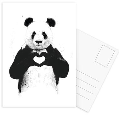 All You Need Is Love Postcard Set
