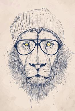 Cool lion Acrylic Print
