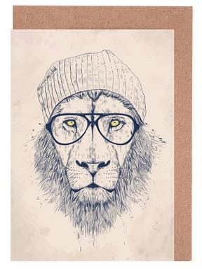 Cool lion Greeting Card Set