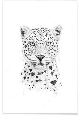 Lovely leopard -Poster