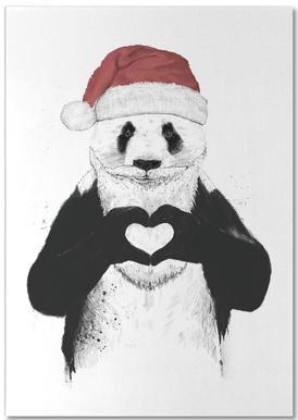 Santa Panda -Notizblock