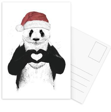 Santa Panda Postcard Set
